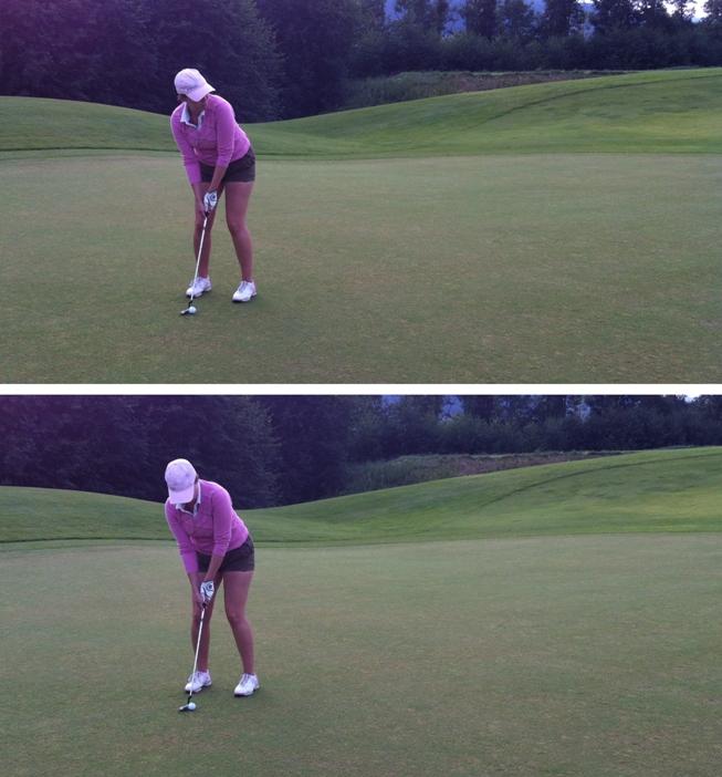 1b15ecc6 Fullt fokus på puttingen. Her er det mange slag å spare.. Genser Cross //  Shorts H&M // Caps Ping