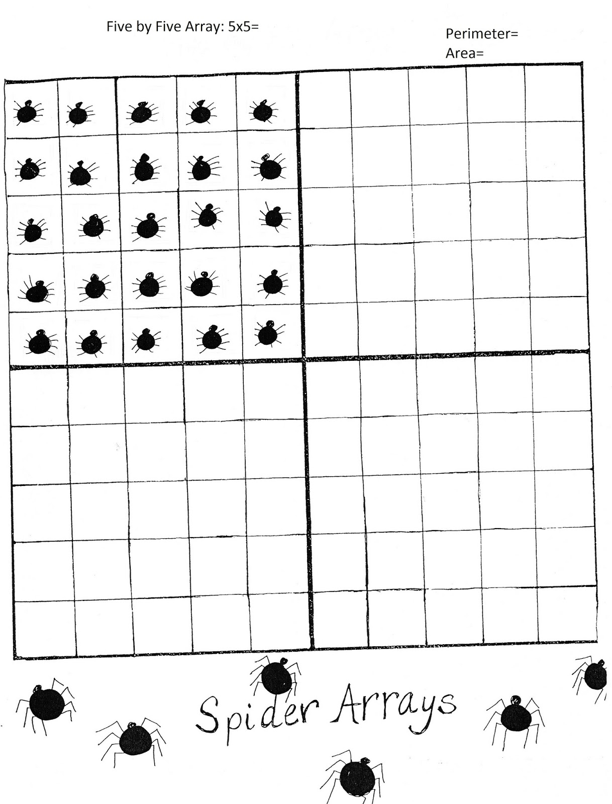 Ima Retired Teacher: Spider Math Multiplication Activities
