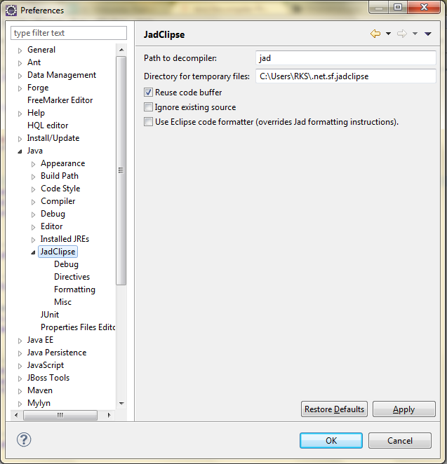 Blog::: JvmNotFoundException: Java Decompiler (Jad) : A