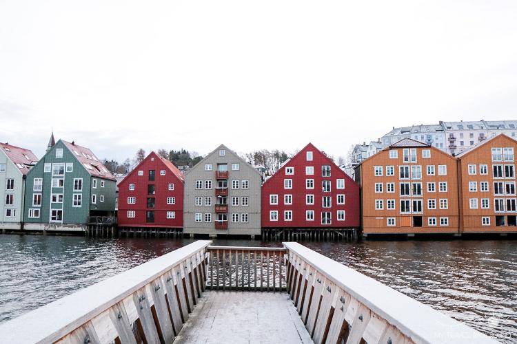 My Travel Background : Cartes Postales de Norvège - Trondheim