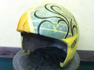 1185979355 - カスタムペイント工程  ジェットヘルメット 祭雲天女