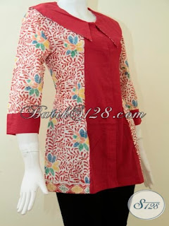 baju batik wanita modern lengan panjang