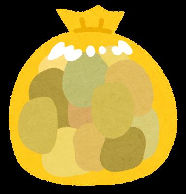 黄色いゴミ袋のイラスト