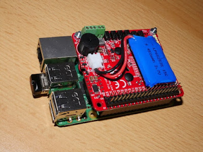 New Raspberry Pi with battery and power controller board.