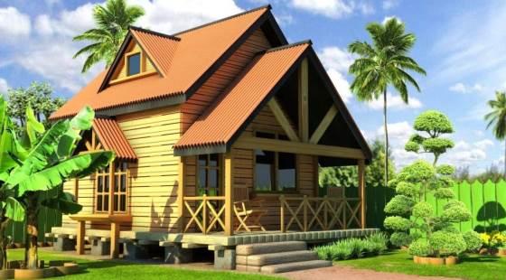 Rumah Kayu mungil yang indah dan ramah kantong