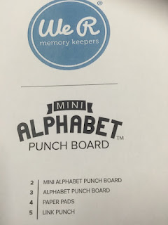 Alphabet Punch Board