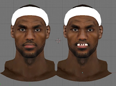 NBA 2K13 LeBron James Cyber Face 3D Mod