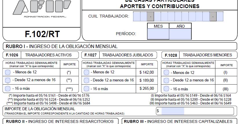 Nuevo Formulario 102 Rt Interactivo Ignacio Online