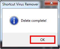 ازالة فيروس Shortcut والتخلص منه نهائيا