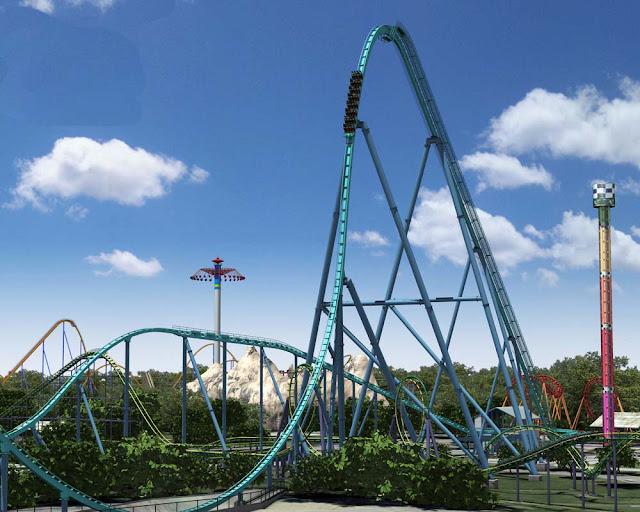montanha russa Leviathan