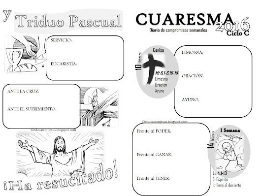 Cuadernillo de fichas para imprimir y colorear Cuaresma y Semana ...
