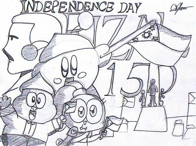 Free Download Independence Day Drawing