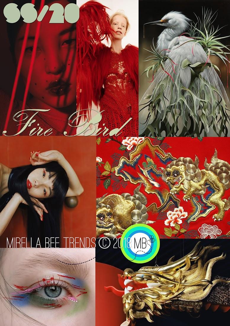 Fiction Trends 2020.Fashion Vignette Trend Mirella Bruno Fire Bird Ss 2020