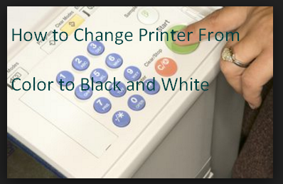 How to Change Printer From Color to Black and White