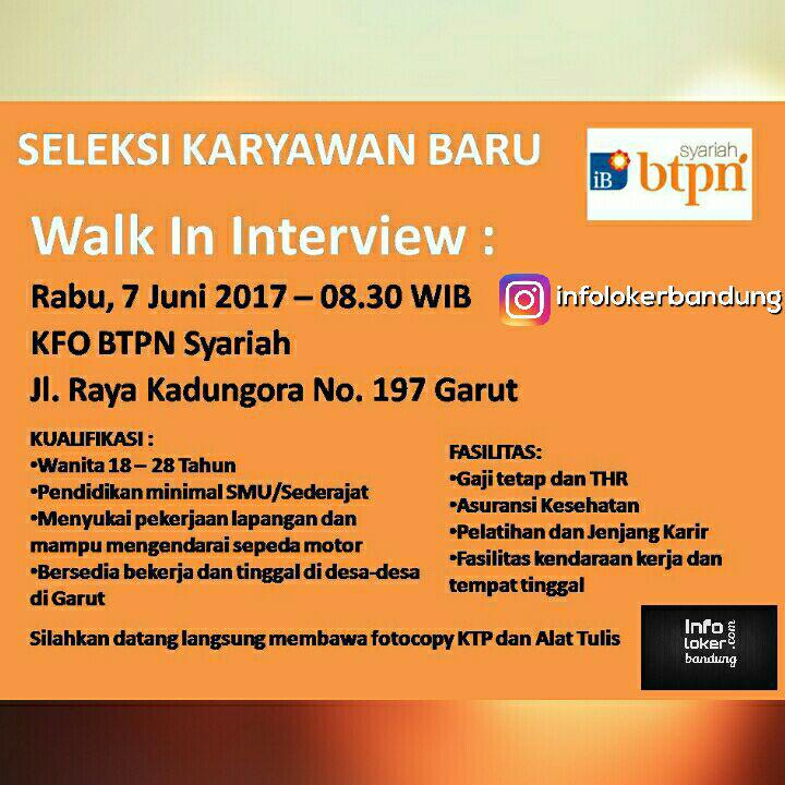 Walk In Interview Bank BTPN Syariah Juni 2017