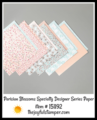 Stampin' Up! Parisian Blossoms Specialty Designer Series Paper | Nicole Steele The Joyful Stamper