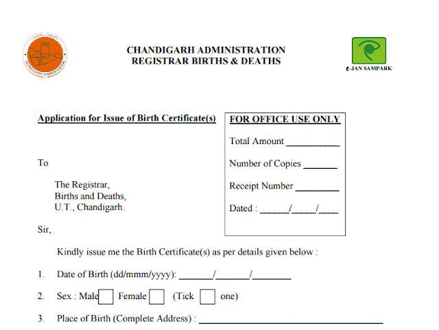 Birth Certificate Form Online in India