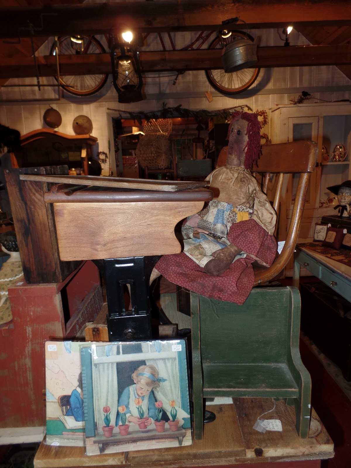 Wonderful image of Log Cabin Antiques & Gifts: Sneak peek of Carol's wonderful primitive  with #683A2B color and 1200x1600 pixels