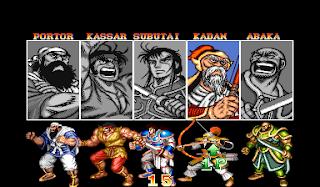 Warriors of Fate - selección de personajes