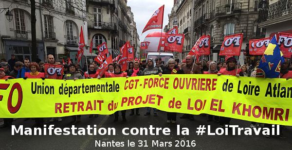 #LoiTravail : Succès des manifestations, le 31 Mars