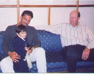 Ajay With Ravi Shastri Tony Greig