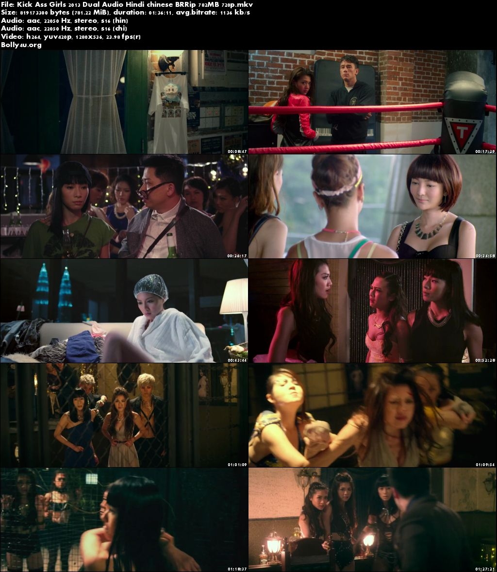 Kick Ass Girls 2013 BRRip 750MB Hindi Dual Audio 720p Download