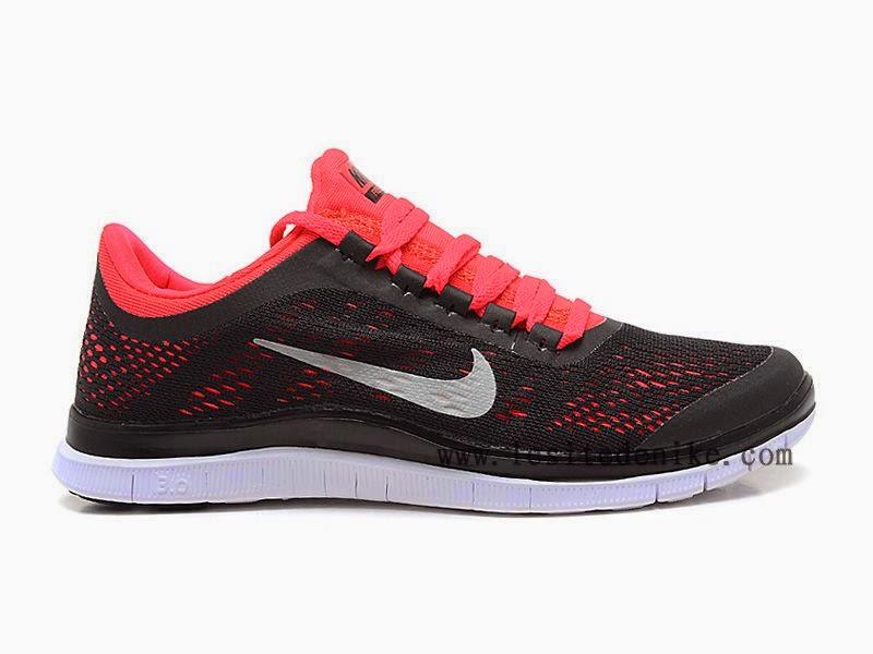 a32b242722 Nike Free 3.0 Chaussure de course à pied pour Femme Nike Free 3.0 V5  Chaussure de Running Pas Cher Pour Femme Noir/Rouge Style - Couleur #  580392-006