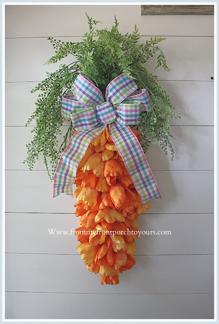 Carrot Tulip Wreath-DIY-Spring-Easter-Home Decor-Farmhouse Style-Cottage Style-From My Front Porch To Yours