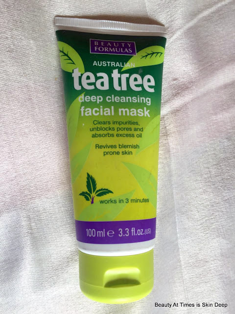 Beauty Formulas Tea Tree Deep Cleansing Face Mask.