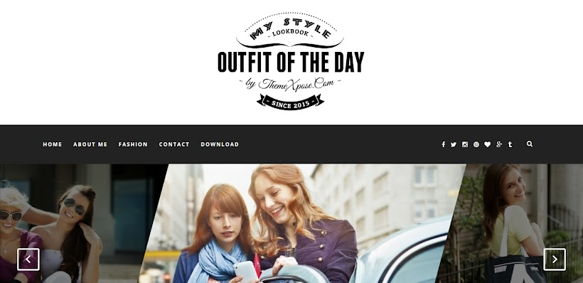 Outfit Free Blogger Template