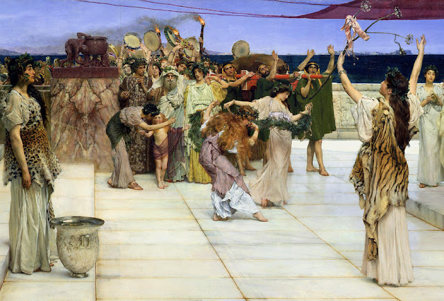 Dedication to Bacchus (Dionysus) Sir lawrence Alma Tadema