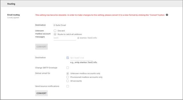 Haga clic en el botón CONVERTIR que está junto a la norma existente para asignarla a campos nuevos