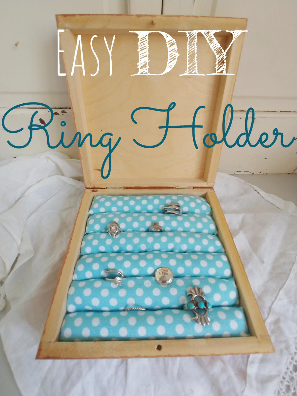 How to make an easy DIY ring holder