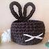 Osterkörbchen aus Textilgarn