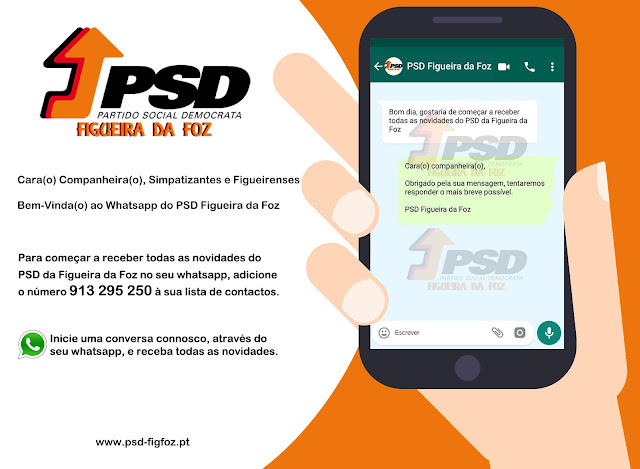 Whatsapp do PSD Figueira da Foz