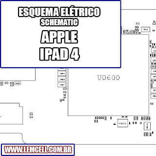 Esquema Elétrico Smartphone Apple iPad 4 Manual de Serviço  Service Manual schematic Diagram Cell Phone Smartphone Celular Apple iPad 4     Esquematico Smartphone Celular Apple iPad 4