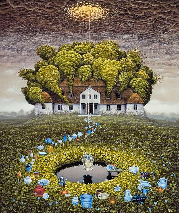 Pelas Águas - Jacek Yerka e seu surrealismo fantástico ~ Polonês