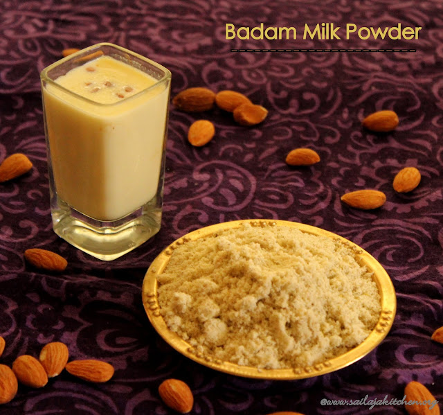 images of Badam MIlk Powder / Homemade Badam Milk Powder Recipe / Instant Badam Milk Powder Recipe / Badam Malt
