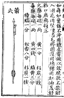 Ming Chinese Fire Arrow