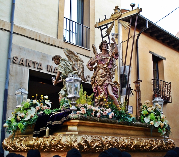 Paso de los Atributos. Cofradía de Nuestra Señora de las Angustias y Soledad. León. Foto G. Márquez