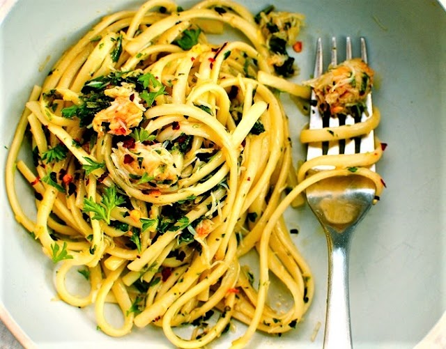 Quick & Easy Crab Pasta