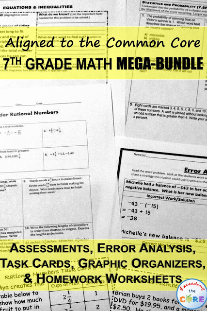 Exceeding the CORE: 7th Grade Math COMMON CORE Assessments, Warm-Ups