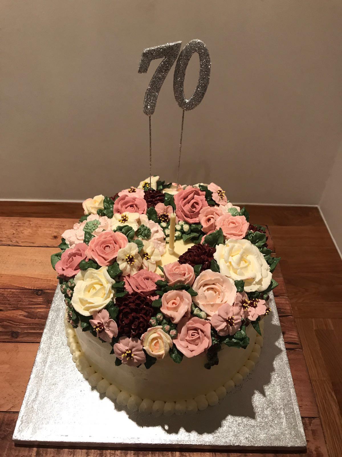 Strange Rachels Cake Blog Flower Cake For My Mom Funny Birthday Cards Online Hetedamsfinfo