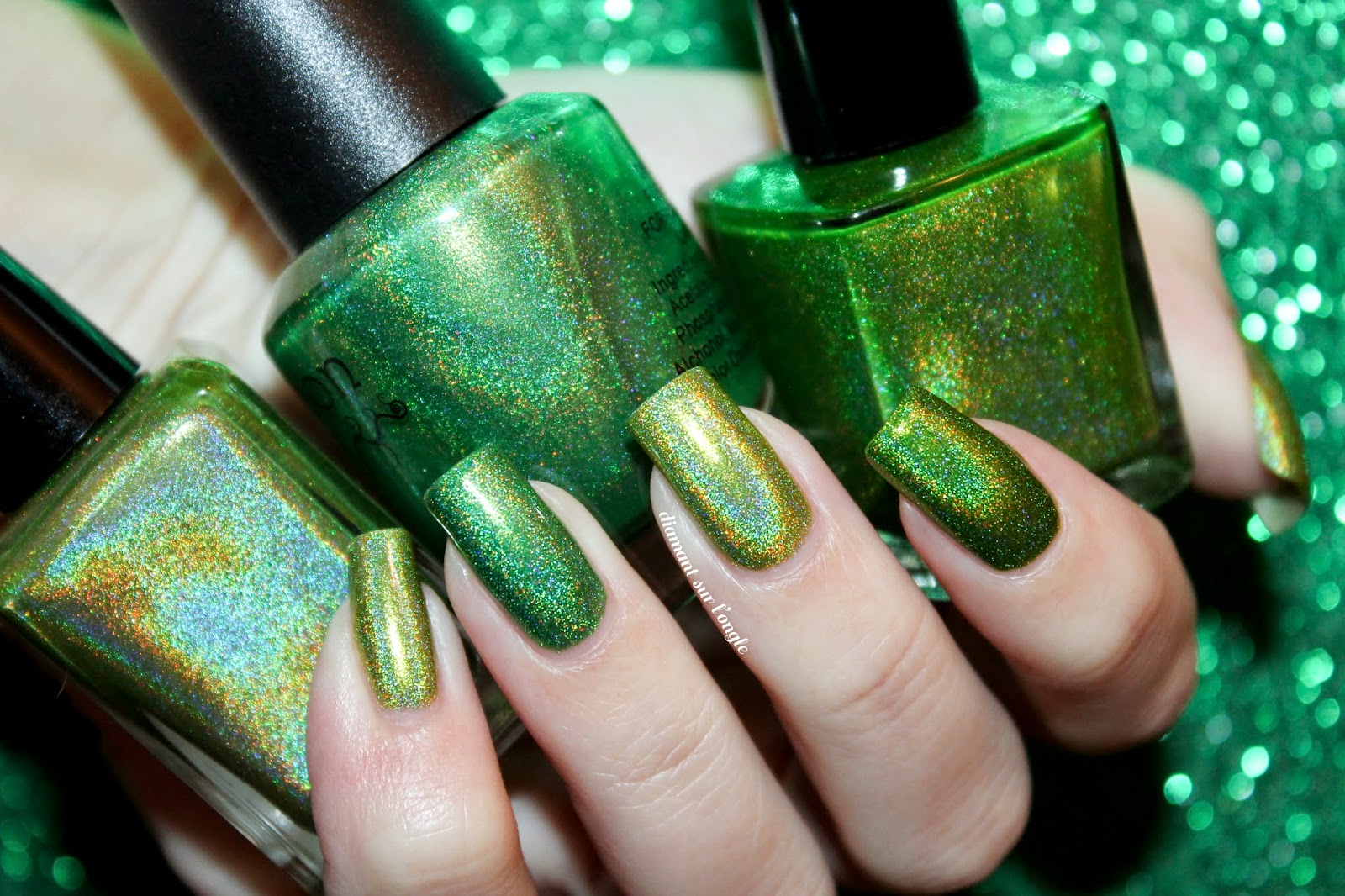 Three Holographic Nail Polishes