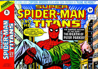 Super Spider-Man and the Titans #201, Peter Parker is dead