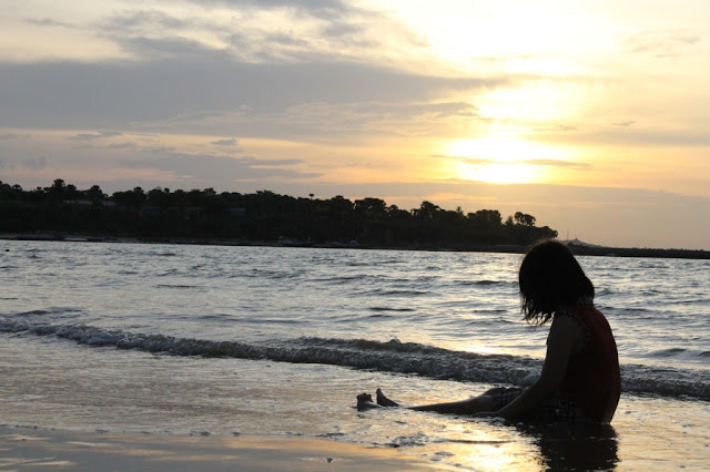 Sunset di Pantai Lasiana, Kupang NTT