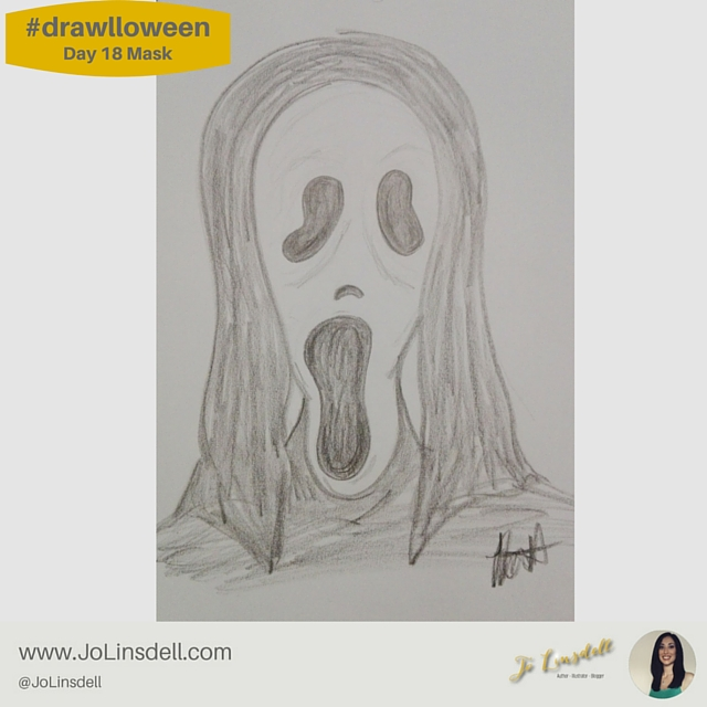 #Drawlloween Day 18 Mask #Drawing #challenge