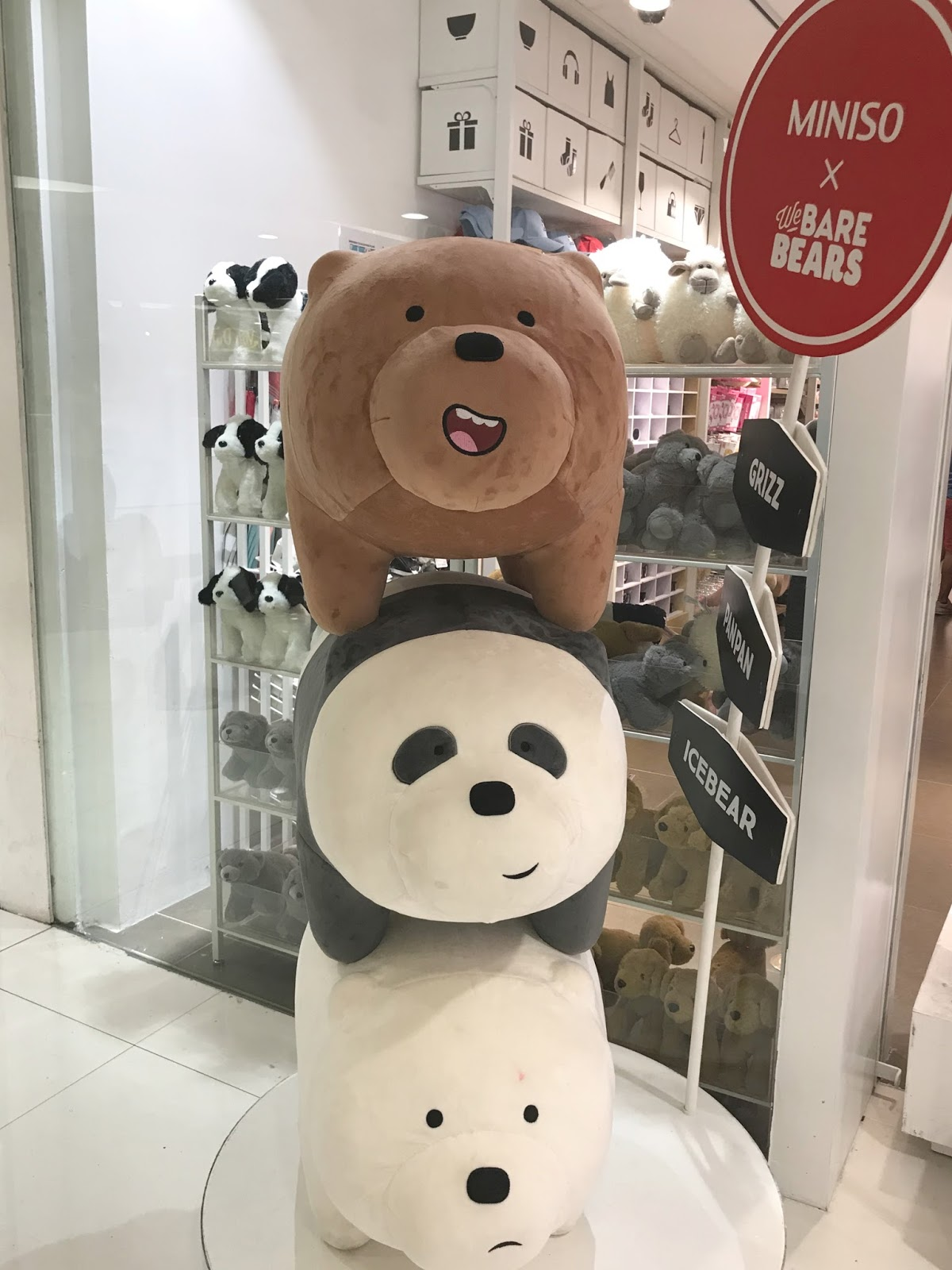 We Bare Bears At Miniso Artsy Fartsy Ava