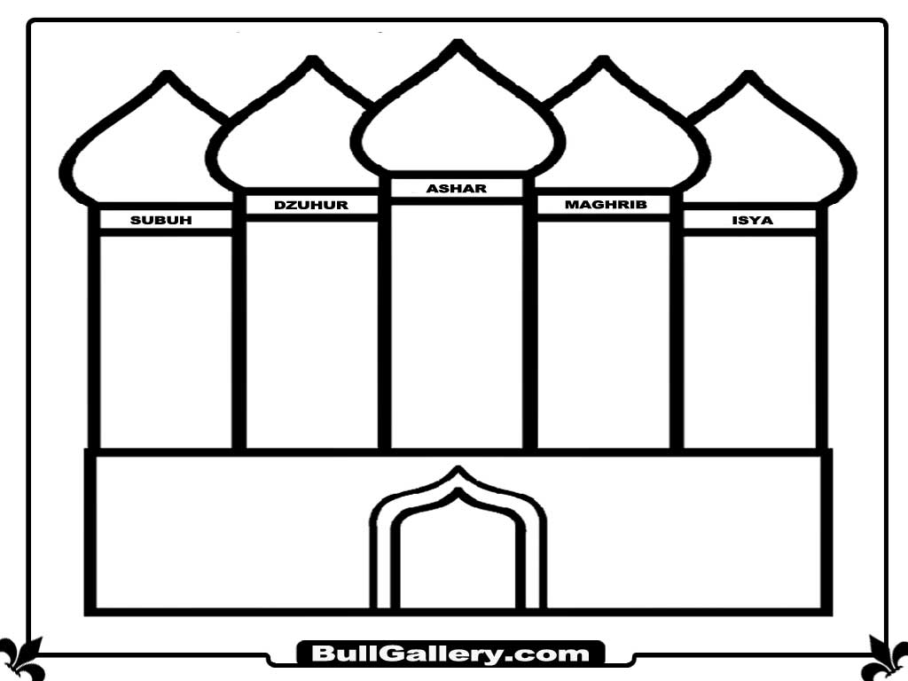 Mosque coloring pages ~ Printable Mosque Coloring Pages - Bull Gallery