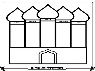 Mosque Printable Coloring Pages